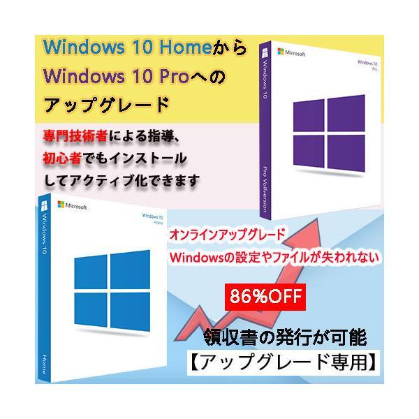 Windows 10 HomeからWindows 10 Proへのアップグレード オンラインアクティブ化