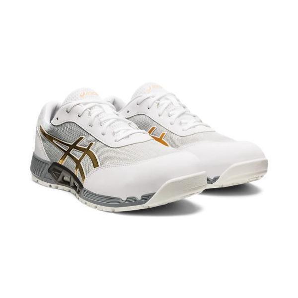 アシックス安全靴ウィンジョブCP212ACホワイト×ピュアゴールド各サイズ