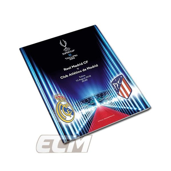 【予約PRO11】【国内未発売】UEFA 2018 スーパーカップ レアルマドリード 対 アトレチコマドリード 記念プログラム【サッカー/Real Madrid/Atletico Madrid/Prog
