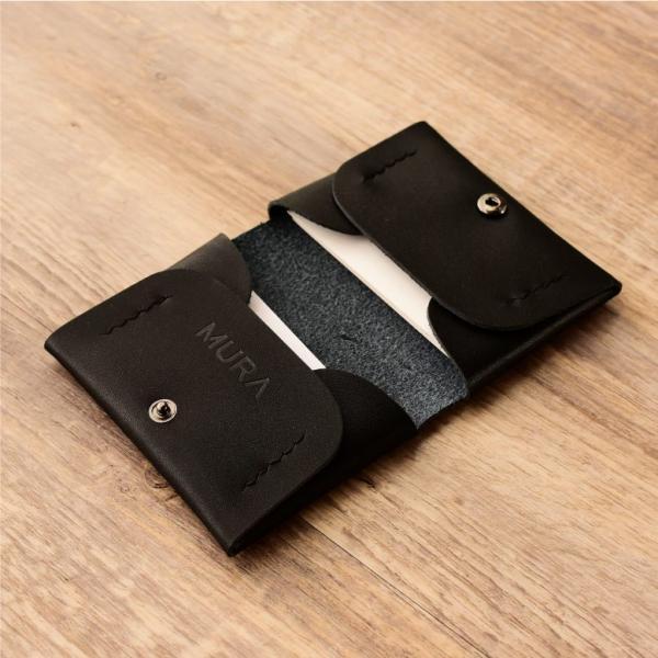名刺入れ メンズ 本革 レザー 黒 カードケース レディース 大容量 50枚以上|mura|03