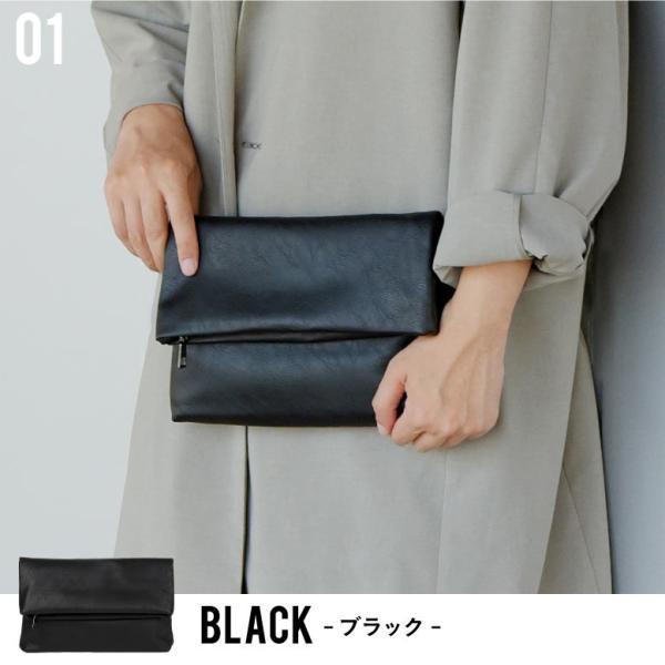 クラッチバッグ メンズ 小さめ PU レザー  メンズバッグ セカンドバッグ ビジネス 結婚式 ブラック|mura|02