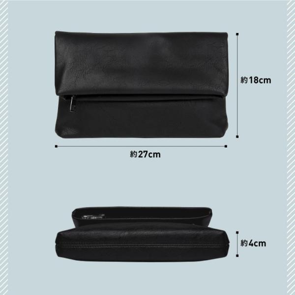 クラッチバッグ メンズ 小さめ PU レザー  メンズバッグ セカンドバッグ ビジネス 結婚式 ブラック|mura|05