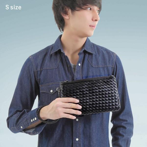 クラッチバッグ イントレチャート メンズ 編み込み セカンドバッグ|mura|02