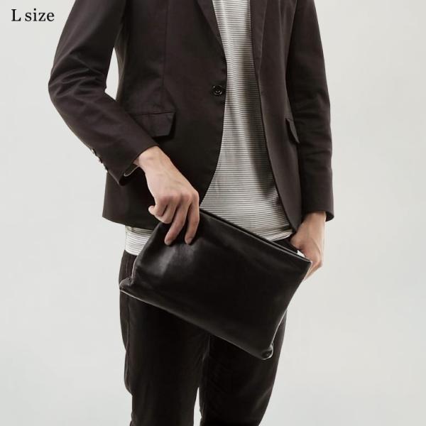 クラッチバッグ メンズ 小さめ 本革 レザー  ビジネス 結婚式 ブラック|mura|05