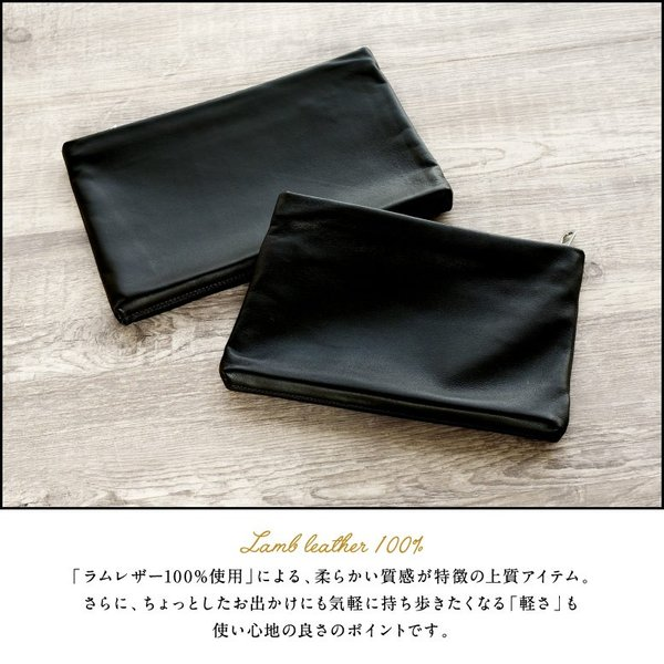 クラッチバッグ メンズ 小さめ 本革 レザー  ビジネス 結婚式 ブラック|mura|06