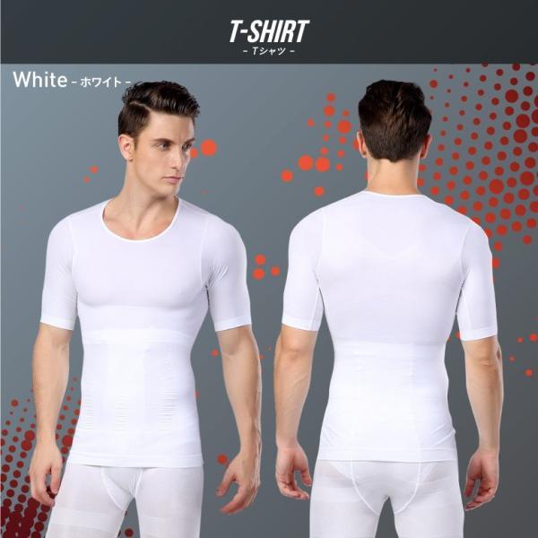 加圧シャツ メンズ 加圧インナー 半袖 タンクトップ 加圧下着  コンプレッションウェア 夏用 Tシャツ スパンデックス mura 15