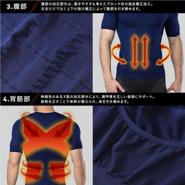 加圧シャツ メンズ 加圧インナー 半袖 タンクトップ 加圧下着  コンプレッションウェア 夏用 Tシャツ スパンデックス mura 10