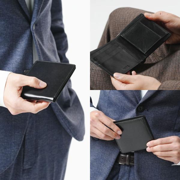 財布 メンズ 二つ折り 本革 二つ折り財布 牛革 レザー ボックス型 薄型 プレゼント wallet mura 14