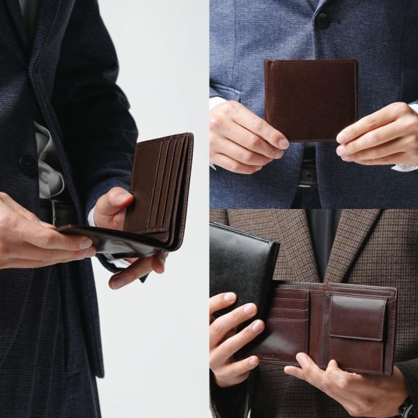 財布 メンズ 二つ折り 本革 二つ折り財布 牛革 レザー ボックス型 薄型 プレゼント wallet mura 15