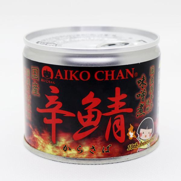 伊藤食品 あいこちゃん 辛鯖味噌煮 190g 24缶入 鯖缶 サバ缶 缶詰 激辛 おつまみ