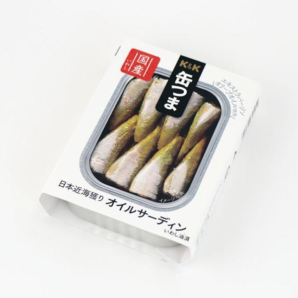 缶つま 国分 日本近海獲り オイルサーディン 105g缶 缶詰 5,500円以上送料無料