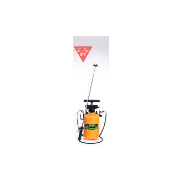 噴霧器 4リットル用 2頭式 最長2.1m伸縮ノズル(4段式)付