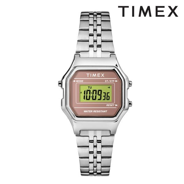 83f80d28ca 時計 TIMEX タイメックス TW2T48500 クラシック デジタル ミニ ゴールド ブラック×シルバー ブレス GG D9|murasaki  ...