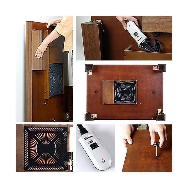 軽量 折れ脚 こたつ カルコタ 105x75cm 長方形 コタツ  こたつテーブル|muratakagu|03