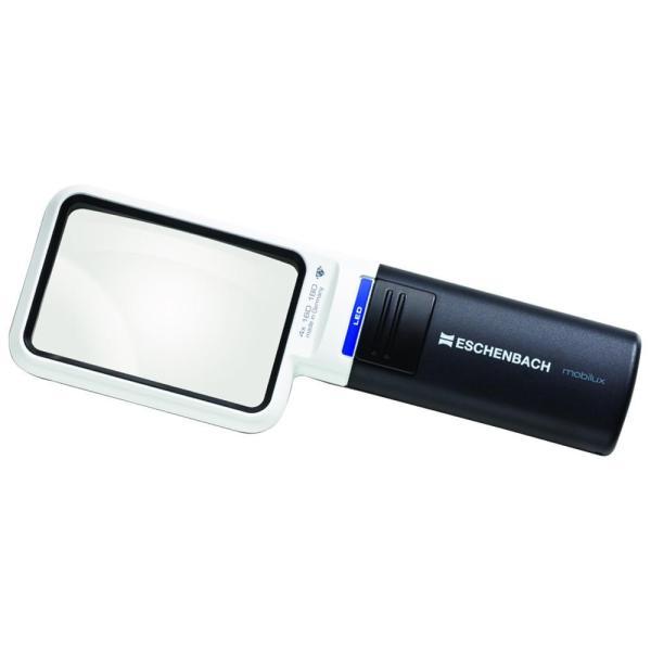 エッシェンバッハ LEDワイドライトルーペ (4倍) 角型 1511-4