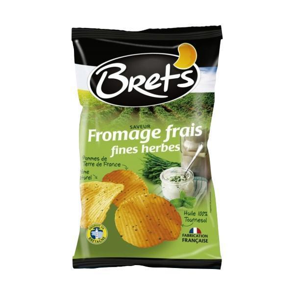 Brets(ブレッツ) ポテトチップス フロマージュ&ハーブ 125g×10袋 チーズ味 お菓子 フランス