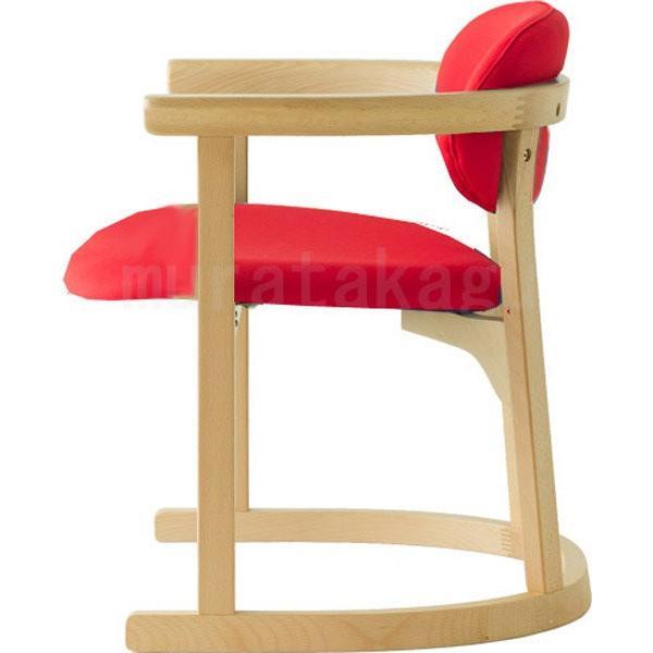 かに座 PLUS ハイタイプ KP-200 ダイニングチェア 高座椅子 バリアフリー 立ち上がり楽々 天然木 無限工房 高齢者 障害者|muratakagu|06