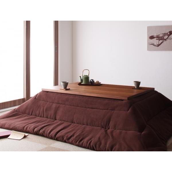 天然木ウォールナット材 和モダンこたつテーブル STRIGHT ストライト 長方形 105×75|muratakagu|03