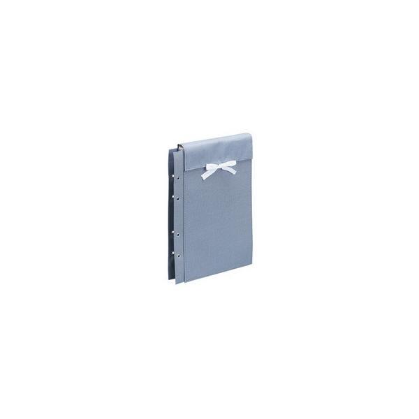 FILE/ファイル  布製図面袋 ひも式 正A4判 ZN-L03A ライトブルー ※画像はグレー色