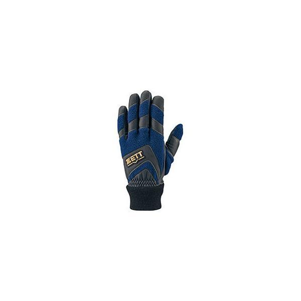 ZETT/ゼット  防寒用ライトフリース手袋 スマホ対応 Mサイズ (ネイビー) BG2519-2900