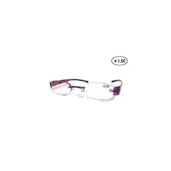Gelly Senior/ジェリーシニア  TR06-2 ジェリーシニア 老眼鏡 婦人タイプ (度数 +1.50) 【フレーム:クリアパープル】