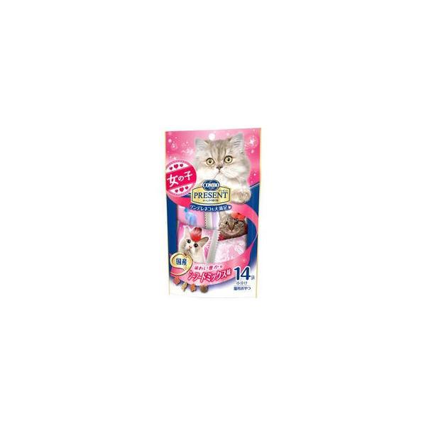 日本ペットフード  コンボ プレゼント キャット おやつ 女の子 シーフードミックス味 42g(3g×14袋)