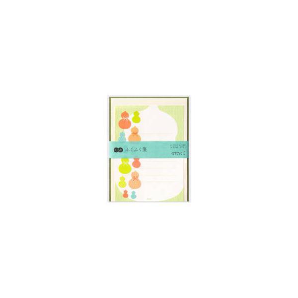 MIDORI/ミドリ  レターセット シール付 ふくふく ひょうたん柄 86480006
