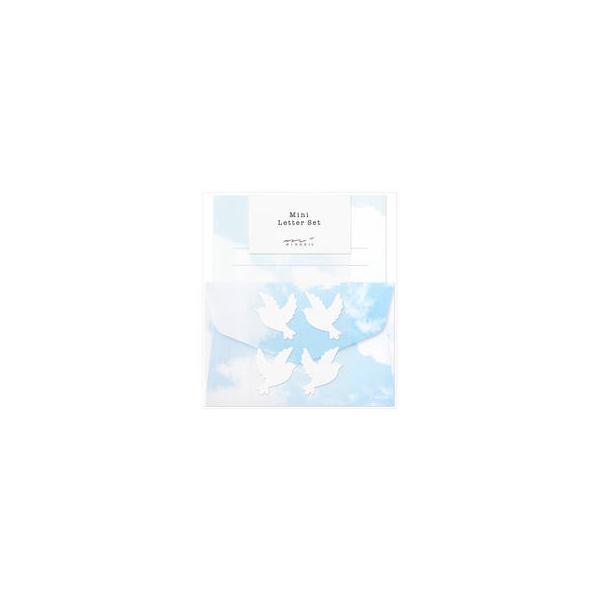 MIDORI/ミドリ  ミニレターセット 空色ノキモチ 91802608