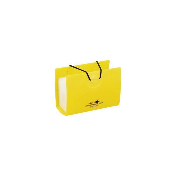 LIHIT LAB./リヒトラブ  AQUA DROPs ポイントカードホルダー 20枚 黄 A-5003-5 20枚用(ヨコ入れタイプ)
