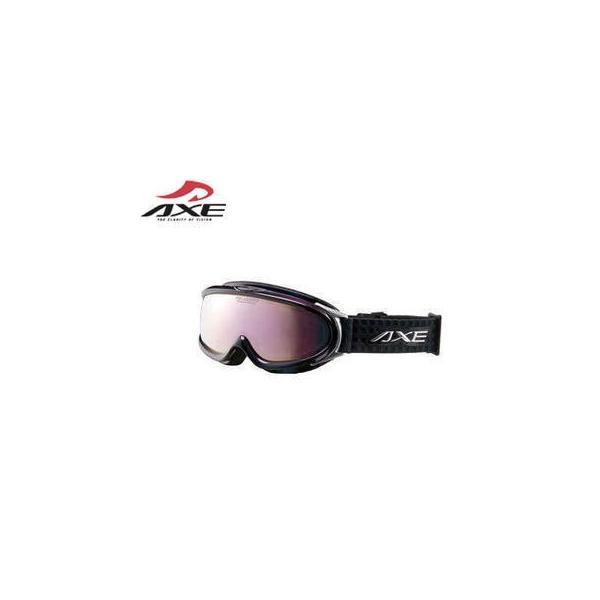 AXE/アックス  AX888-WMP スキーゴーグル UVカット メンズ ハイスペック 偏光レンズ (オーロラブラック/ピンクミラー)