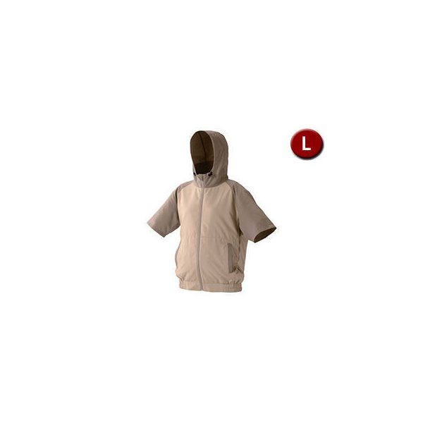 IRIS OHYAMA/アイリスオーヤマ  カジュアルクールウェア 半袖セット (フード有り) Lサイズ CCHS-L02-BE