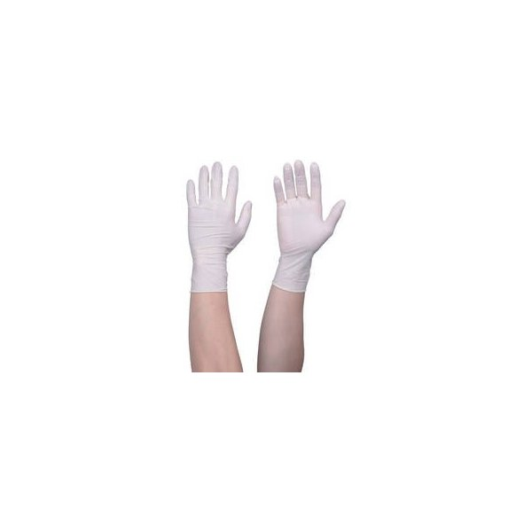 TRUSCO/トラスコ中山  使い捨て天然ゴム手袋TGセーフ 0.12 粉無白 M 100枚 TGNL12WM