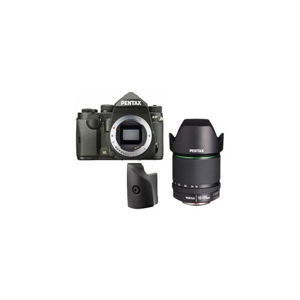PENTAX/ペンタックス  KPボディキット(ブラック)+グリップM+【アウトレット】DA18-135mmF3.5-5.6レンズセット【kpset】