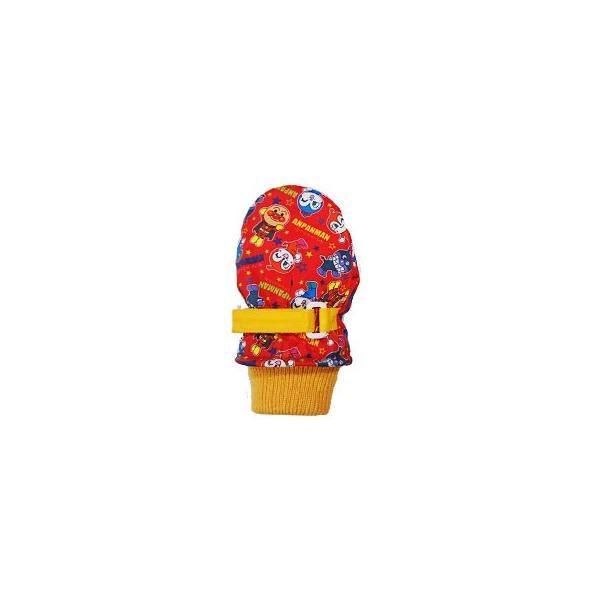 アンパンマン/バイキンマン/ドキンちゃん/コキンちゃん■トドラー笛入りスキーミトン【レッド】