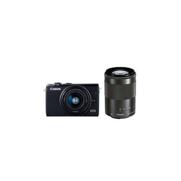 CANON/キヤノン  EOS M100(ブラック)・ダブルズームキット ミラ−レスカメラ 2209C024