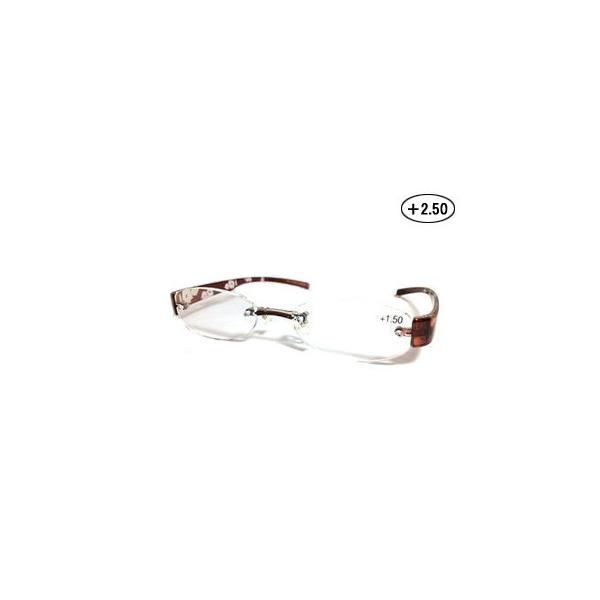 Gelly Senior/ジェリーシニア  TR06-1 ジェリーシニア 老眼鏡 婦人タイプ (度数 +2.50) 【フレーム:クリアブラウン】