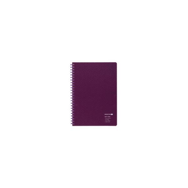 KOKUYO/コクヨ  ソフトリングノート KOKUYO ME 50枚・5mm方眼・A5・紫 KME-SR931S5DV