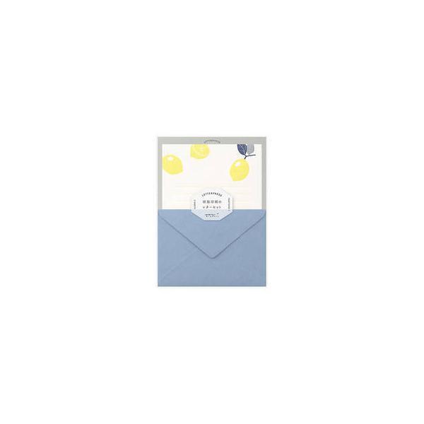 MIDORI/ミドリ  レターセット 活版 レモン柄 86476006