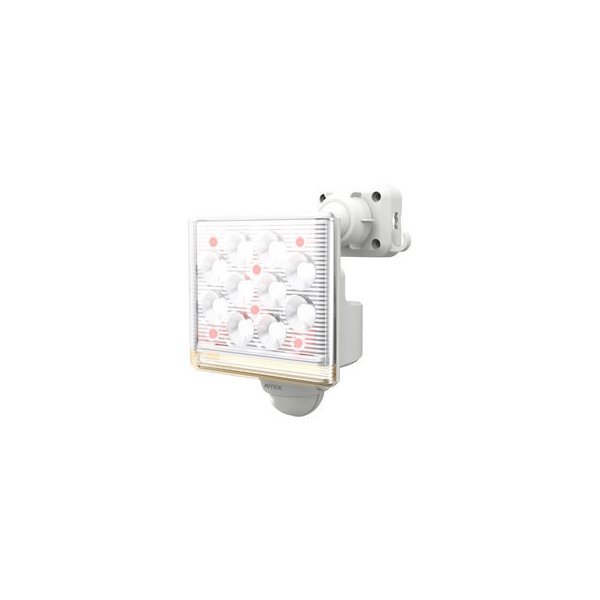 musashi/ムサシ  RITEX/ライテックス 12W×1灯 フリーアーム式 LEDセンサーライト リモコン付 LED-AC1015