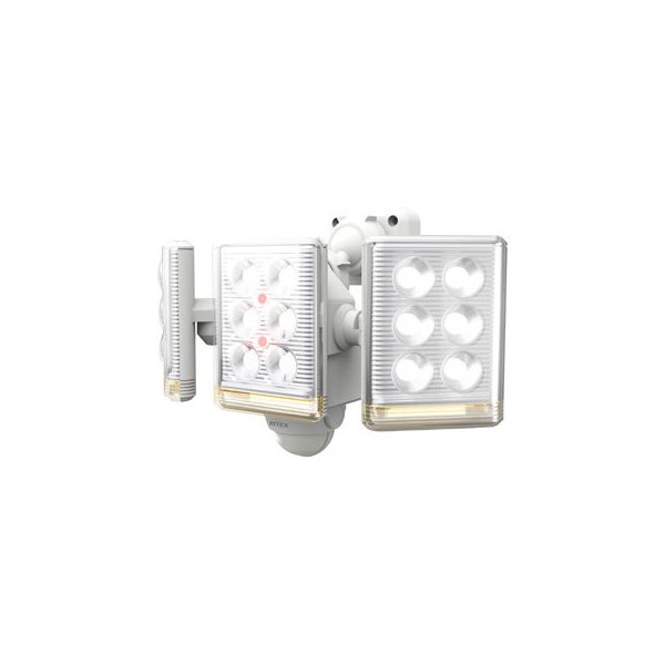 musashi/ムサシ  RITEX/ライテックス  9W×3灯 フリーアーム式 LEDセンサーライト リモコン付 LED-AC3027