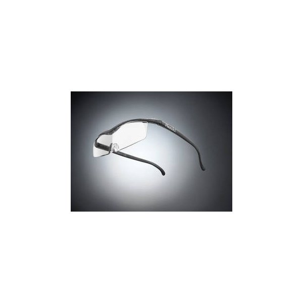 Hazuki Company/ハズキ  【Hazuki/ハズキルーペ】メガネ型拡大鏡 コンパクト クリアレンズ 1.6倍 ブラックグレー