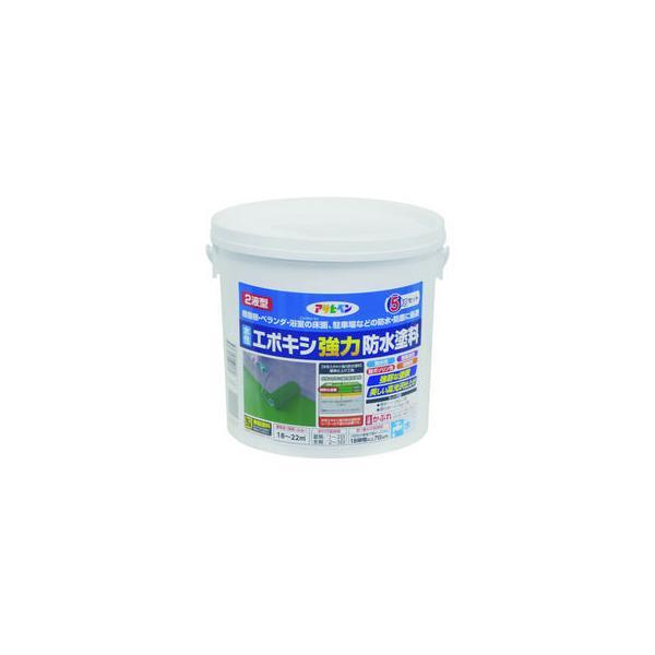 ASAHIPEN/アサヒペン  水性エポキシ強力防水塗料 5KGセット ライトグレー 606365