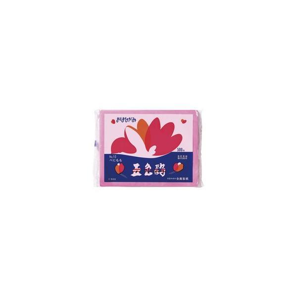 合鹿製紙  飾り付けの定番 お花が作れる お花紙五色鶴 500枚入 べにもも GO-500-BEP