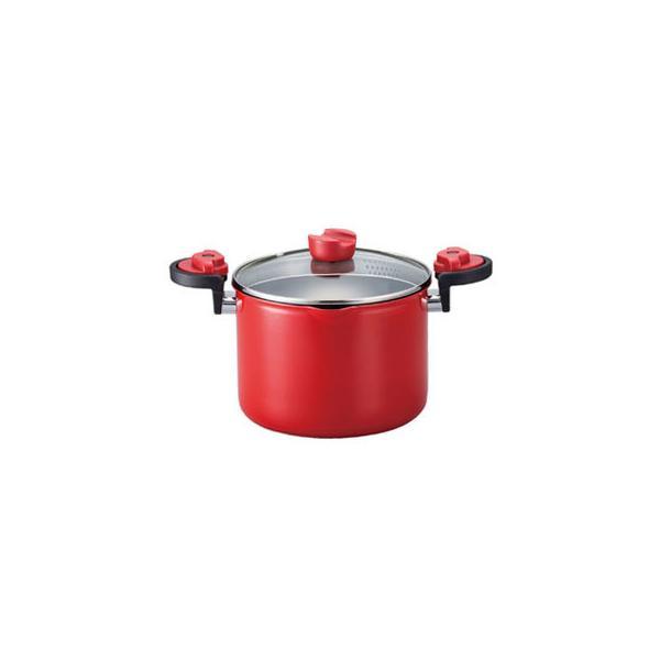 ベストコ  KACHAT パスタ鍋 深型両手鍋湯切りもできるセラミックハイキャセロール 20cm IH