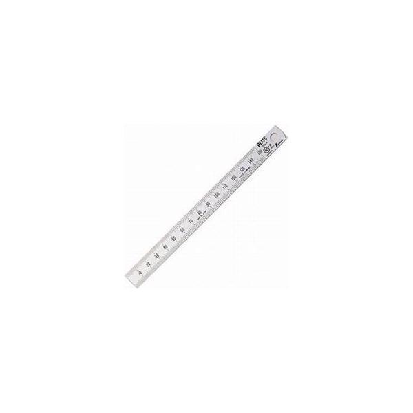 PLUS/プラス  47-741 ステンレス直尺 シルバー 目盛りの長さ15cm×厚さ0.5mm