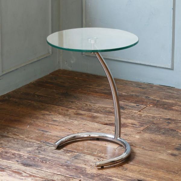 サイドテーブル シンプル おしゃれ ガラス モダン クルーナ GLASS TOP murauchikagu 02