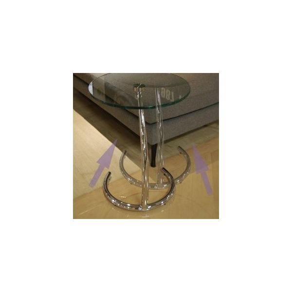サイドテーブル シンプル おしゃれ ガラス モダン クルーナ GLASS TOP murauchikagu 04