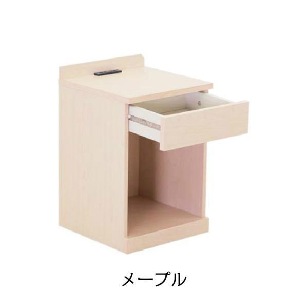 ナイトテーブル 2口コンセント付き 引き出し マイアミ ベッドサイドテーブル ミニテーブル|murauchikagu|02