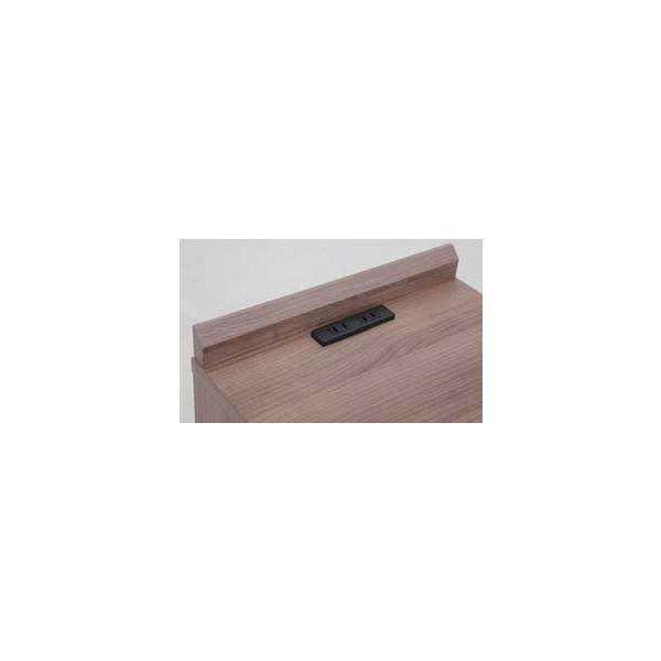 ナイトテーブル 2口コンセント付き 引き出し マイアミ ベッドサイドテーブル ミニテーブル|murauchikagu|07