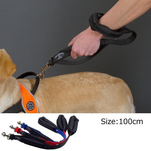 犬 リード 中型犬・大型犬用 トレ・ポンティ Double Safety Handle Leash 100cm|murol